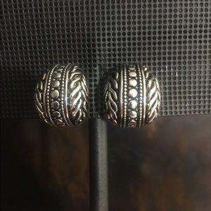 Fashion Silver Clip on Earrings.